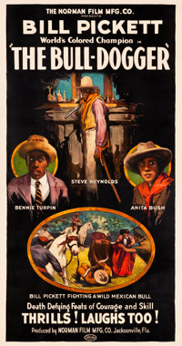 "The Bull-Dogger (Norman, 1921). Three Sheet (41"" X 79"")"