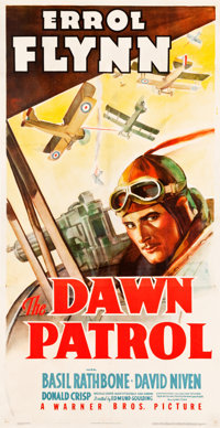 "The Dawn Patrol (Warner Brothers, 1938). Three Sheet (41"" X 79"")"