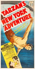 "Movie Posters:Adventure, Tarzan's New York Adventure (MGM, 1942). Three Sheet (41"" X79.5"").. ..."