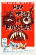 """Movie Posters:Horror, How to Make a Monster (American International, 1958). One Sheet (27"""" X 41"""").. ..."""