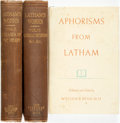 Books:Biography & Memoir, [Peter Mere Latham]. Pair of Books on Dr. P.M. Latham. Robert Martin, editor. The Collected works of Dr. P.M. Latham, wi... (Total: 3 Items)