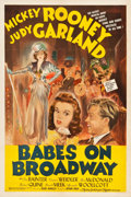 "Movie Posters:Musical, Babes on Broadway (MGM, 1941). One Sheet (27.25"" X 40.75"") StyleD.. ..."