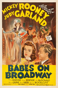 """Babes on Broadway (MGM, 1941). One Sheet (27.25"""" X 40.75"""") Style D"""