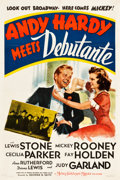 """Movie Posters:Comedy, Andy Hardy Meets Debutante (MGM, 1940). One Sheet (27"""" X 41"""") StyleC.. ..."""