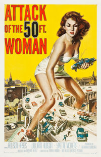 "Attack of the 50 Foot Woman (Allied Artists, 1958). One Sheet (27"" X 41.75"")"