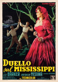 "Movie Posters:Drama, Duel on the Mississippi (Columbia, 1956). Italian 2 - Foglio (39"" X55"").. ..."