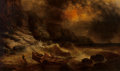 Fine Art - Painting, American:Antique  (Pre 1900), WILLIAM CHARLES ANTHONY FRERICHS (American, 1829-1905). StormySeas. Oil on canvas. 36 x 60 inches (91.4 x 152.4 cm). Si...
