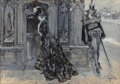 Fine Art - Work on Paper:Watercolor, ALBERT BECK WENZELL (American, 1864-1917). Until After Easter, 1900. Gouache on paper laid on board. 28-1/2 x 40-1/2 inc... (Total: 4 Items)