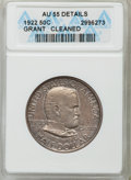 1922 50C Grant No Star -- Cleaned -- ANACS. AU55 Details. NGC Census: (18/3454). PCGS Population (34/4095). Mintage: 67...