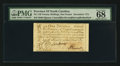 Colonial Notes:North Carolina, Tied for Top Pop North Carolina December, 1771 £1 PMG Superb GemUnc 68 EPQ.. ...