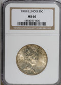 Commemorative Silver: , 1918 50C Lincoln MS66 NGC. . NGC Census: (261/71). PCGS Population(498/86). Mintage: 100,058. (#9320)...