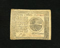 Colonial Notes:Continental Congress Issues, Continental Currency September 26, 1778 $20 Extremely Fine. This isa lightly circulated example with a bottom margin runnin...