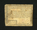 Colonial Notes:Massachusetts, Massachusetts May 5, 1780 $3 Fine. This is a scarce uncancelledexample from this issue that is usually found cancelled. Sev...