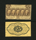 Fractional Currency:First Issue, Fr. 1282SP 25c Narrow Margin Specimen Pair First Issue Choice New. Bright ink colors and razor sharp print quality are but t... (Total: 2 notes)