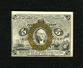 """Fractional Currency:Second Issue, Fr. 1233 5c Second Issue About New. The face bronzing remains bold on this note that is surcharged """"18-63"""" on the back. The ..."""