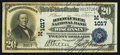 National Bank Notes:Wisconsin, Milwaukee, WI - $20 1902 Date Back Fr. 642 The Milwaukee NB of Wisconsin Ch. # (M)1017. ...