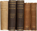 Books:Medicine, [Medical Texts]. Group of Three Medical Textbooks in Five Volumes.Various publishers, 1864-1884. Titles include: Clinical...(Total: 5 Items)