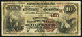 Milwaukee, WI - $10 1882 Brown Back Fr. 485 The Wisconsin NB Ch. # (M)4817