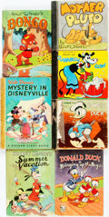 Books:Children's Books, [Disney.] Group of Seven Children's Books Featuring Classic DisneyCharacters. Racine: Whitman Publishing Company, [various ...(Total: 7 Items)