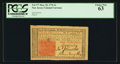 Colonial Notes:New Jersey, New Jersey March 25, 1776 3s PCGS Choice New 63.. ...