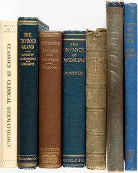 [Medicine]. Group of Seven Books on Various Topics in Medicine. Various publishers and dates