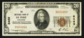 National Bank Notes:Wisconsin, De Pere, WI - $20 1929 Ty. 1 The NB of De Pere Ch. # 6469. ...