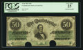 Confederate Notes:1862 Issues, Engraving Error T50 $50 1862 PF-18 Cr. 361A.. ...