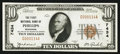 National Bank Notes:Wisconsin, Phillips, WI - $10 1929 Ty. 1 The First NB Ch. # 7434. ...