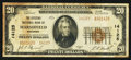 National Bank Notes:Wisconsin, Marshfield, WI - $20 1929 Ty. 2 The Citizens NB Ch. # 14125. ...