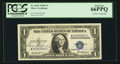 Small Size:Silver Certificates, Serial Number 9 Double Courtesy Autograph Fr. 1615 $1 1935F Silver Certificate. PCGS Gem New 66PPQ.. ...