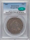 Early Half Dollars: , 1807 50C Draped Bust Fine 12 PCGS. CAC. PCGS Population (92/1139).NGC Census: (62/657). Mintage: 301,076. Numismedia Wsl. ...