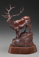 BOB SCRIVER (1914-1999) Season of the Elk, 1976 Bronze with brown patina 11 inches (27.94 cm) high on a 2 inches (5.0