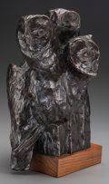 Sculpture, GEORGE NORTHUP (American , 20th Century). Nightwatch, 20th Century. Patinated bronze. 15-1/8 x 5-1/2 x 7 inches (38.3 x ...