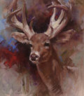 Works on Paper, HARLEY BROWN (American, b. 1939). The Stag. Pastel on paper. 14-7/8 x 12-7/8 inches (37.8 x 32.7 cm) (sight). Signed low...