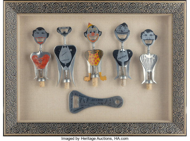 six american and italian aluminum figural wine keys and lot 63354