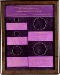 Commemorative Gold, Shreve & Co. Copper and Class Panama-Pacific Coin Frame....