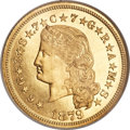 Proof Four Dollar Gold Pieces, 1879 $4 Flowing Hair, Judd-1635, Pollock-1833, R.3, PR67 ★ Cameo NGC....