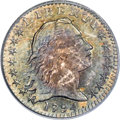 Early Half Dimes, 1794 H10C V-2, LM-2, R.5, MS65 PCGS Secure....