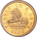 Territorial Gold, 1860 $5 Mormon Five Dollar MS62 PCGS Secure. K-6, High R.5....