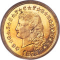 Proof Four Dollar Gold Pieces, 1879 $4 Flowing Hair, Judd-1635, Pollock-1833, R.3, PR64 Deep Cameo PCGS. CAC....