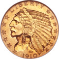 Proof Indian Half Eagles, 1910 $5 PR66 ★ NGC. CAC....