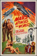 """Movie Posters:Science Fiction, Mars Attacks the World (Filmcraft, R-1950). One Sheet (27"""" X 41"""").Science Fiction.. ..."""