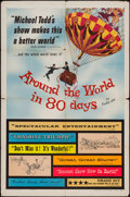 "Movie Posters:Adventure, Around the World in 80 Days (United Artists, 1956). One Sheet (27""X 41"") & Uncut Pressbook (8 Pages, 18"" X 13""). Adventure....(Total: 2 Items)"