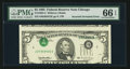 Error Notes:Inverted Third Printings, Fr. 1985-G $5 1995 Federal Reserve Note. PMG Gem Uncirculated 66EPQ.. ...