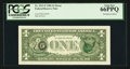 Error Notes:Third Printing on Reverse, Fr. 1911-F $1 1981 Federal Reserve Note. PCGS Gem New 66PPQ.. ...