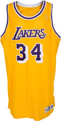 Basketball Collectibles:Uniforms, 1996-97 Shaquille O'Neal Game Worn Los Angeles Lakers Jersey. ...