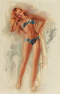 Pin-up and Glamour Art, TED WITHERS (American, 1896-1964). Miss August, LapeerManufacturing Co. calendar illustration, 1952. Oil on canvas.29 ...