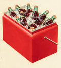 Mainstream Illustration, AMERICAN ARTIST (20th Century). Cooler, Coca-Colaadvertisement. Gouache on paper cut-out mounted on board.14.625 x 13 ...