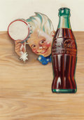 Mainstream Illustration, AMERICAN ARTIST (20th Century). A Tip of the Bottle Cap to You,Coca-Cola advertisement. Gouache on paper cut-out laid o...