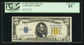 Fr. 2307* $5 1934A North Africa Silver Certificate. PCGS Choice New 63